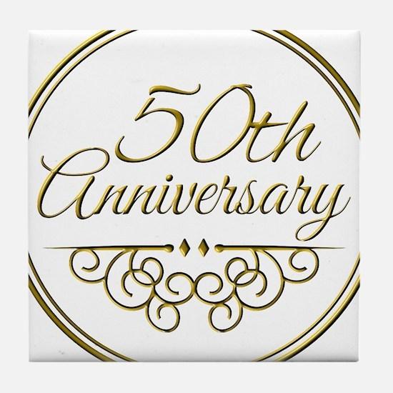 50th Anniversary Tile Coaster