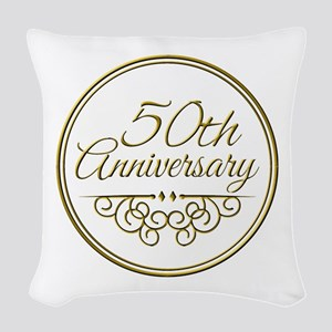 50th Anniversary Woven Throw Pillow