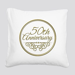 50th Anniversary Square Canvas Pillow