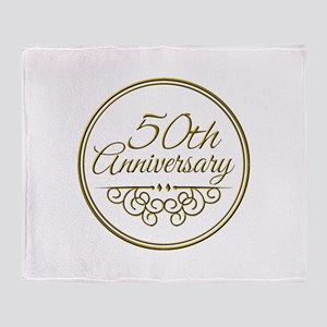 50th Anniversary Throw Blanket