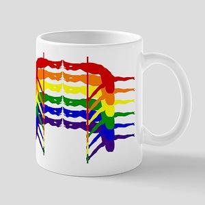 Pole Dancer Rainbow Mugs