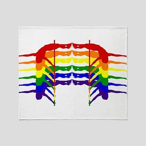 Pole Dancer Rainbow Throw Blanket