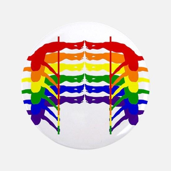 """Pole Dancer Rainbow 3.5"""" Button"""
