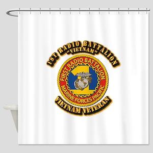USMC - 1st Radio Battalion Shower Curtain
