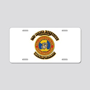 USMC - 1st Radio Battalion Aluminum License Plate