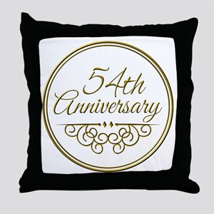54th Anniversary Throw Pillow