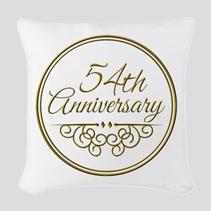 54th Anniversary Woven Throw Pillow