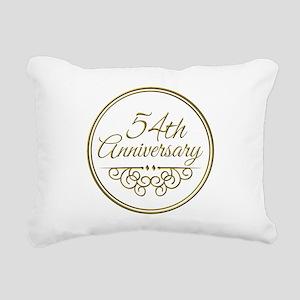 54th Anniversary Rectangular Canvas Pillow