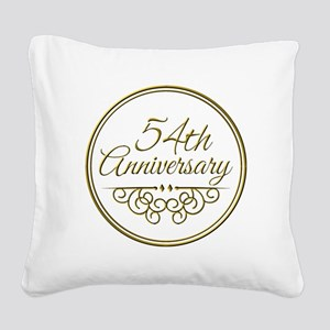 54th Anniversary Square Canvas Pillow