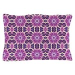 Pink and Purple Fractal Mandala Pillow Case