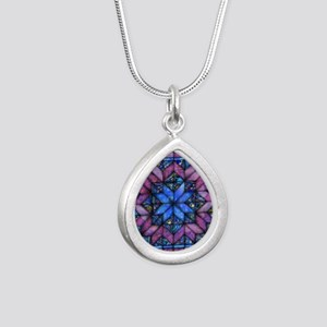 Purple Quilt Necklaces