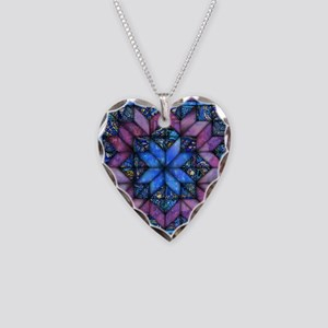 Purple Quilt Necklace