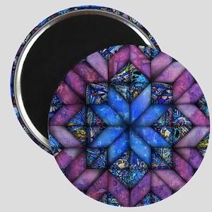 Purple Quilt Magnets