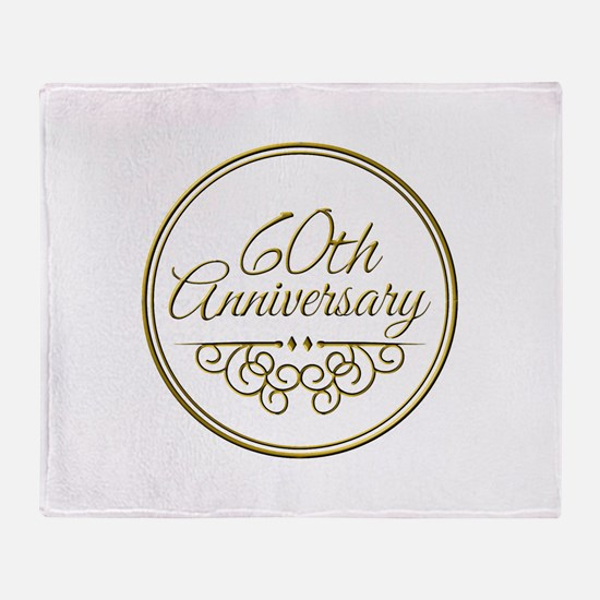 60th Anniversary Throw Blanket