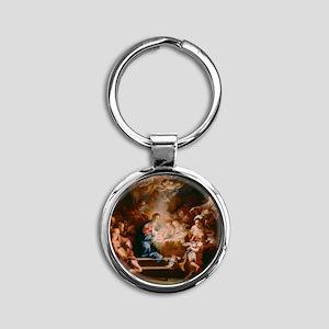 Baby Jesus Round Keychain
