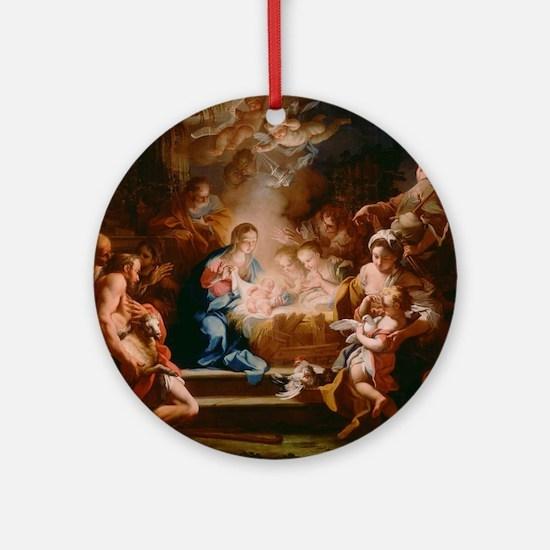 Baby Jesus Round Ornament