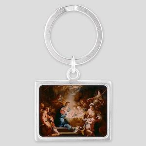 Baby Jesus Landscape Keychain