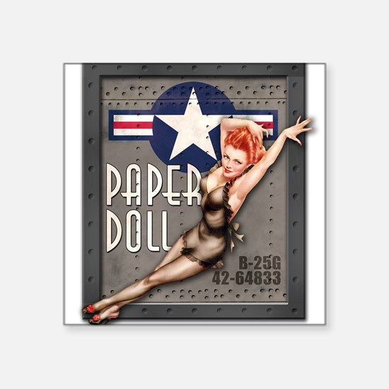 Paper Doll B-25 WWII Nose Art Sticker