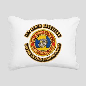 USMC - 1st Radio Battalion With text Rectangular C