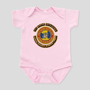 USMC - 1st Radio Battalion With text Infant Bodysu