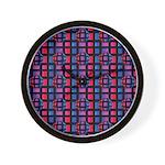 Abstract Rainbow Marble Wall Clock