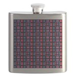 Abstract Rainbow Marble Flask