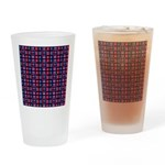 Abstract Rainbow Marble Drinking Glass