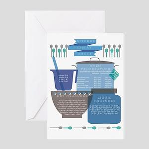 Kitchen Cheat Sheet Greeting Card