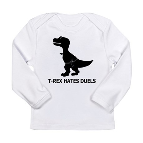 T-Rex Hates Duels Long Sleeve T-Shirt