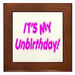 It's My Unbirthday! Framed Tile