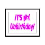 It's My Unbirthday! Framed Panel Print