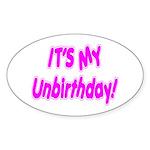 It's My Unbirthday! Oval Sticker