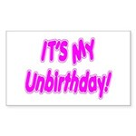 It's My Unbirthday! Rectangle Sticker