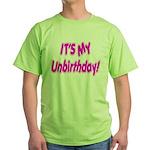 It's My Unbirthday! Green T-Shirt