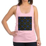 Blue and Yellow Fractal Pattern Racerback Tank Top