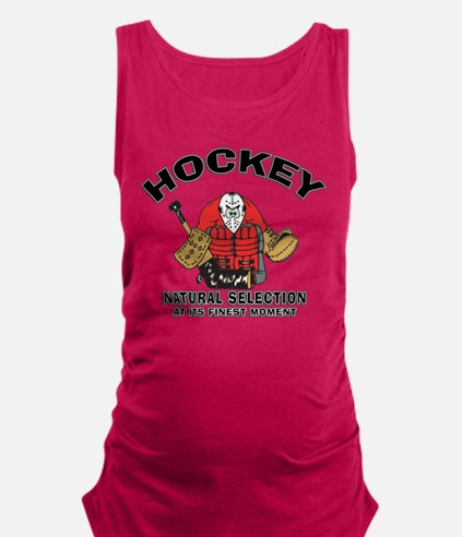 Hockey Goalie Maternity Tank Top
