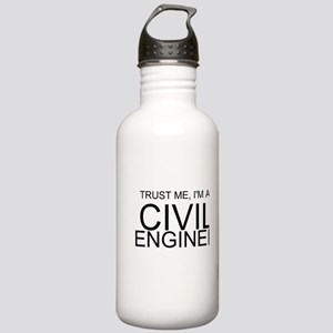 Trust Me, Im A Civil Engineer Water Bottle