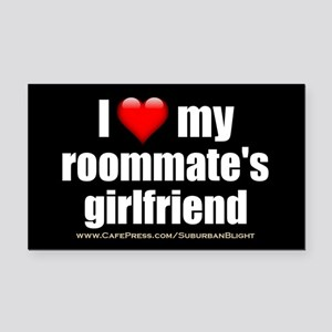 """I Love My Roommate's Girlfriend"" Rectangle Car Ma"