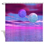 Love Birds Pink Purple Passion Shower Curtain