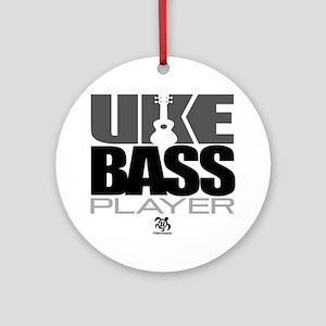 Uke Bass Player Ornament (Round)