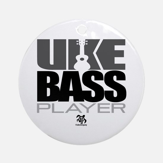 Uke Bass Player Ornament (Round)