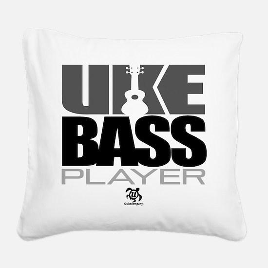 Uke Bass Player Square Canvas Pillow