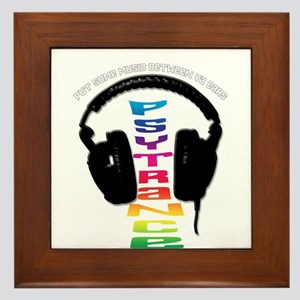 psytrance headphones Framed Tile