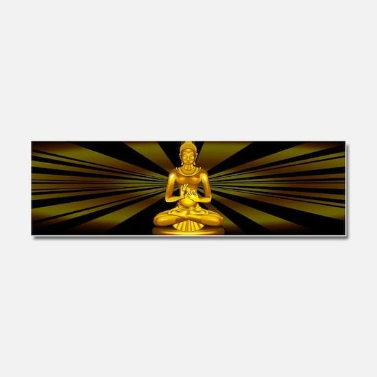 Buddha Siddhartha Gautama Golden Statue Car Magnet