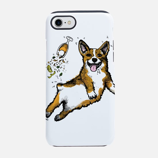 Corgi Animal Dog Beer Print iPhone 7 Tough Case