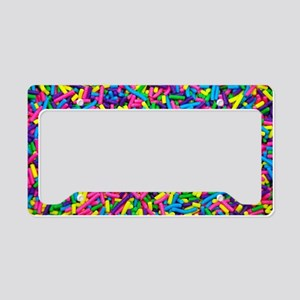 Colorful candy sprinkles License Plate Holder
