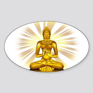 Buddha Siddhartha Gautama Golden Statue Sticker