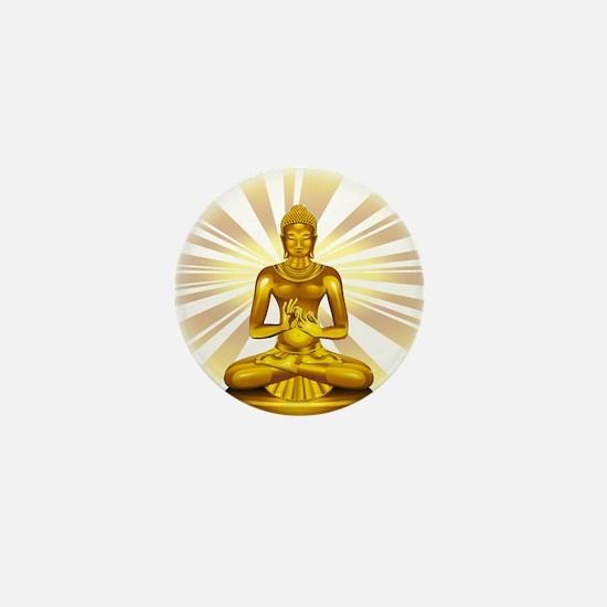 Buddha Siddhartha Gautama Golden Statue Mini Butto