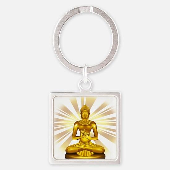 Buddha Siddhartha Gautama Golden Statue Keychains