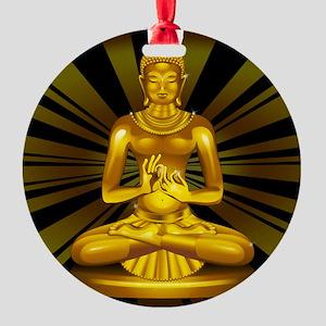 Buddha Siddhartha Gautama Golden Statue Ornament